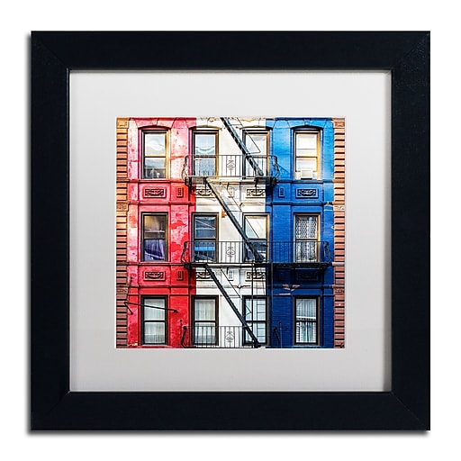"""Trademark Fine Art Philippe Hugonnard 'American Colors' 11"""" x 11"""" Matted Framed (190836120970)"""
