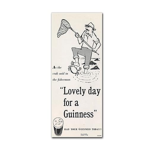 "Trademark Fine Art Guinness Brewery 'Lovely Day For A Guinness III' 10"" x 24"" Wall Art (190836243358)"