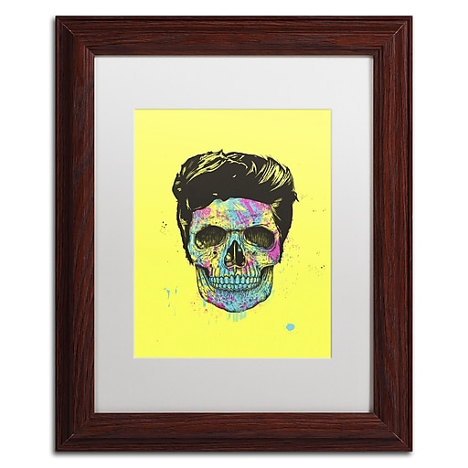 """Trademark Fine Art Balazs Solti 'Color Your Death' 11"""" x 14"""" Matted Framed (190836177066)"""