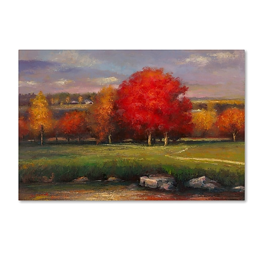 "Trademark Fine Art Daniel Moises 'Sunset' 12"" x 19"" Canvas Stretched (190836188864)"