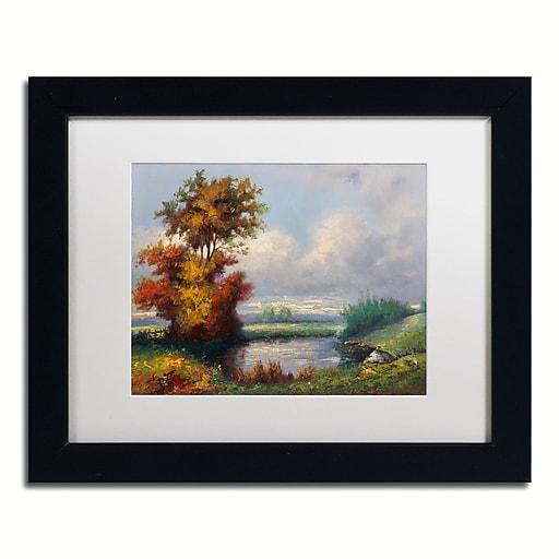 "Trademark Fine Art Daniel Moises 'Landscape Next to Heaven' 11"" x 14"" Matted Framed (190836236299)"