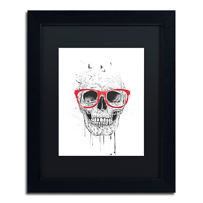 Trademark Fine Art Balazs Solti 'Skull With Red Glasses' 11