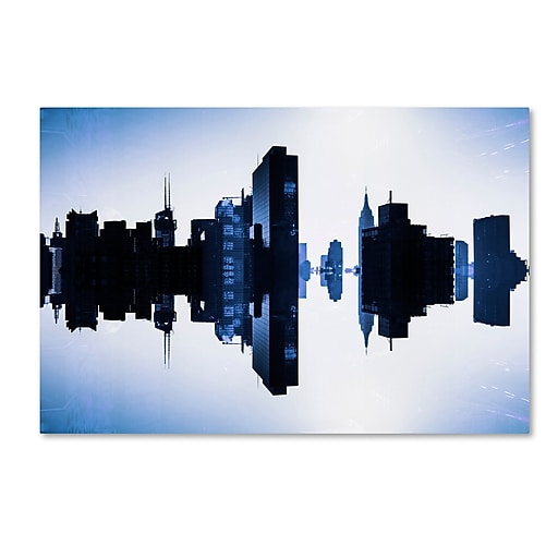 "Trademark Fine Art Philippe Hugonnard 'New York Reflection I' 12"" x 19"" Canvas Stretched (886511966703)"