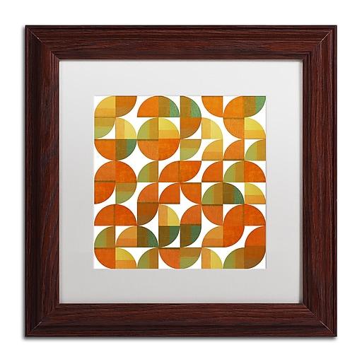 "Trademark Fine Art Michelle Calkins 'Sixty Four Quarters' 11"" x 11"" Matted Framed (190836103126)"
