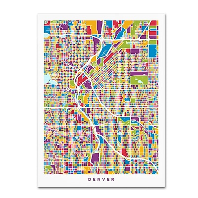 Trademark Fine Art Michael Tompsett 'Denver Colorado Street Map 2' 14