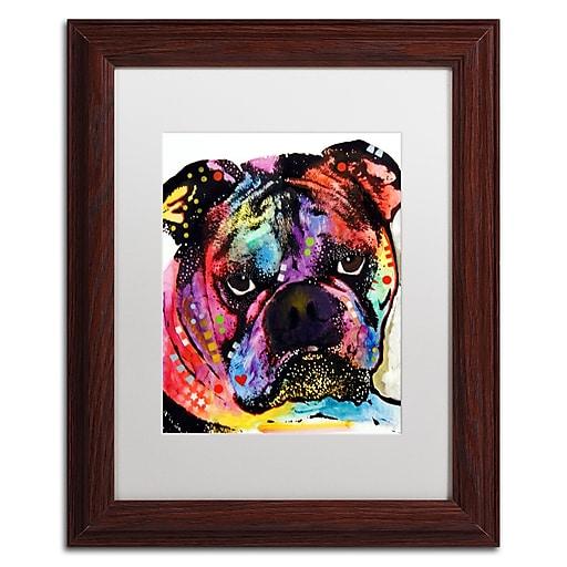 """Trademark Fine Art Dean Russo 'Bulldog' 11"""" x 14"""" Matted Framed (190836167104)"""