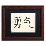 "Trademark Fine Art Courage-Horizontal White' 11"" x 14"" Matted Framed (886511949492)"