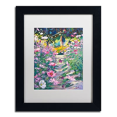Trademark Fine Art David Lloyd Glover 'Garden Path of Cosmos' 11