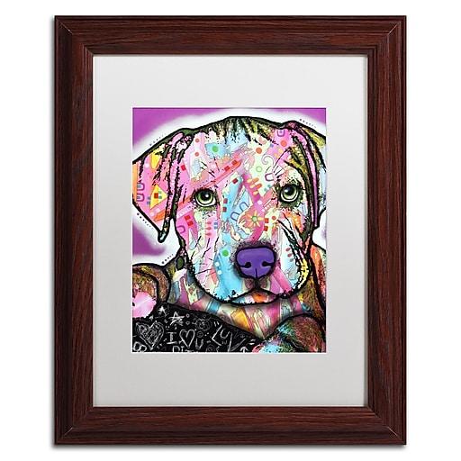 "Trademark Fine Art Dean Russo 'Baby Pit' 11"" x 14"" Matted Framed (190836156900)"