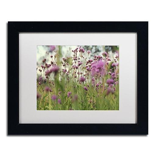 """Trademark Fine Art Beata Czyzowska Young 'Field of Purple' 11"""" x 14"""" Matted Framed (190836183487)"""