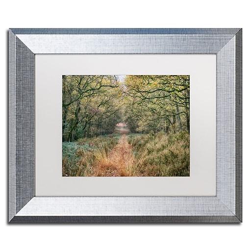 "Trademark Fine Art Cora Niele 'Autumn Walk' 11"" x 14"" Matted Framed (190836315741)"