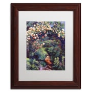 "Trademark Fine Art David Lloyd Glover 'Rose Arbor Pathway' 11"" x 14"" Matted Framed (190836227624)"