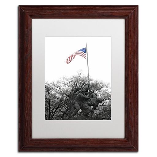 "Trademark Fine Art CATeyes 'Courage' 11"" x 14"" Matted Framed (190836098576)"