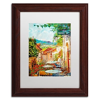 Trademark Fine Art David Lloyd Glover 'Provence Cafe Morning' 11