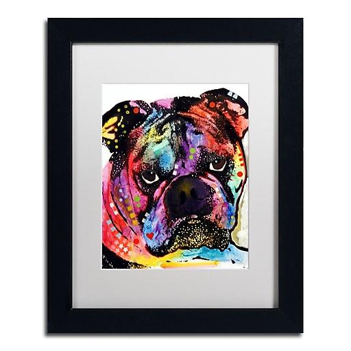 """Trademark Fine Art Dean Russo 'Bulldog' 11"""" x 14"""" Matted Framed (190836166992)"""