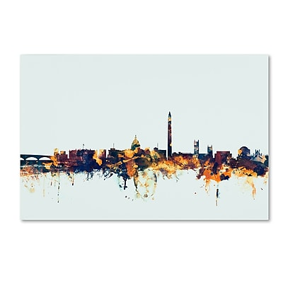 Trademark Fine Art Michael Tompsett 'Washington DC Skyline Blue' 12