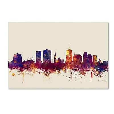 Trademark Fine Art Michael Tompsett 'Christchurch NZ Skyline' 12