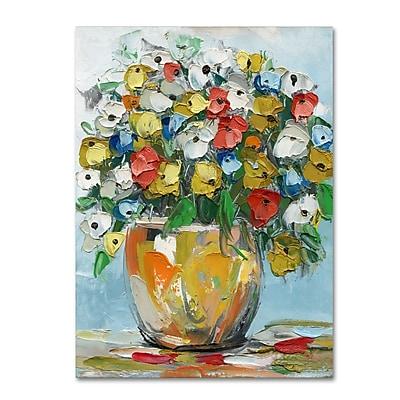 Trademark Fine Art Hai Odelia 'Spring Flowers in a Vase 3' 14