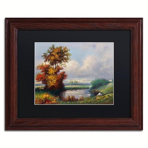 "Trademark Fine Art Daniel Moises 'Landscape Next to Heaven' 11"" x 14"" Matted Framed (190836236466)"