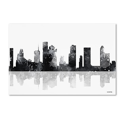 Trademark Fine Art Marlene Watson 'Houston Texas Skyline BG-1' 12