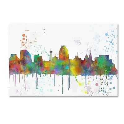 Trademark Fine Art Marlene Watson 'San Antonio Texas Skyline Mclr-1' 12