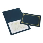 "Skilcraft 12.5""W x 9.75""L Document Covers, Blue, 5/Pack (NSN5195771)"