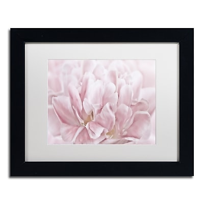 """Trademark Fine Art Cora Niele 'Double Pink Tulip' 11"""" x 14"""" Matted Framed (190836257485)"""
