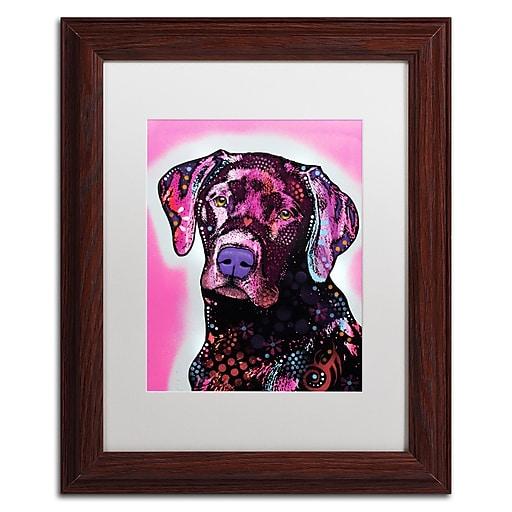 "Trademark Fine Art Dean Russo 'Black Lab' 11"" x 14"" Matted Framed (190836149858)"