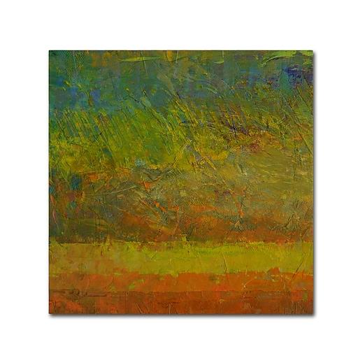 """Trademark Fine Art Michelle Calkins 'Golden Dawn' 14"""" x 14"""" Canvas Stretched (190836069743)"""