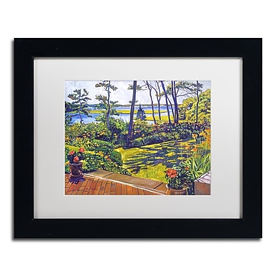 "Trademark Fine Art David Lloyd Glover 'Ocean Lagoon Garden' 11"" x 14"" Matted Framed (190836187966)"