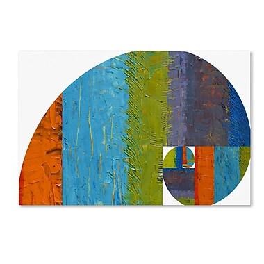 Trademark Fine Art Michelle Calkins 'Fibonacci Spiral' 12