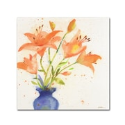 "Trademark Fine Art Sheila Golden 'Tiger Lily Bouquet' 18"" x 18"" Canvas Stretched (190836240302)"