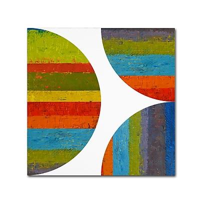 Trademark Fine Art Michelle Calkins 'Half Circle and Quarter Rounds 2.0' 18