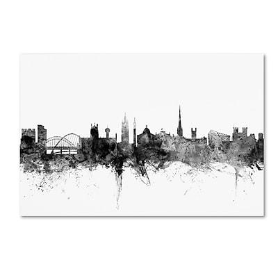 Trademark Fine Art Michael Tompsett 'Newcastle England Skyline B&W' 12