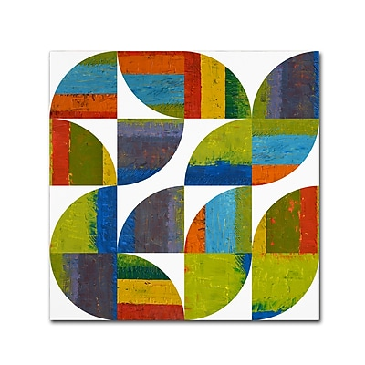 "Trademark Fine Art Michelle Calkins 'Quarter Rounds 4.0' 18"" x 18"" Canvas Stretched (190836075676)"