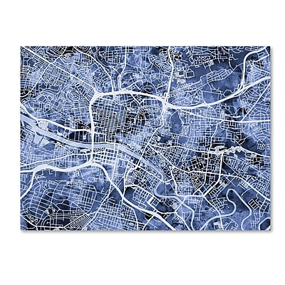 Trademark Fine Art Michael Tompsett 'Glasgow Street Map B&W' 14
