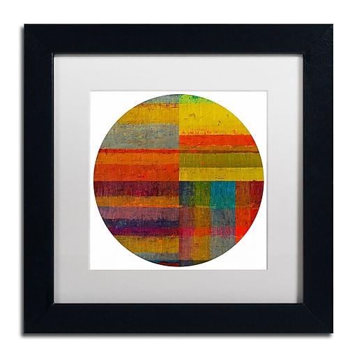 """Trademark Fine Art Michelle Calkins 'Round 4.0' 11"""" x 11"""" Matted Framed (190836076437)"""