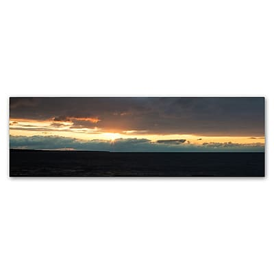 Trademark Fine Art Kurt Shaffer 'April Setting Sun over Lake Erie' 8