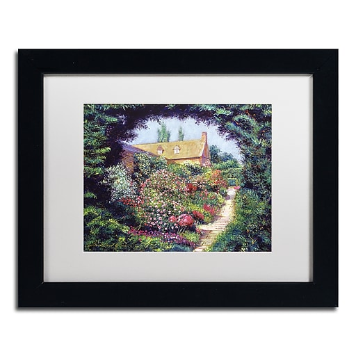 "Trademark Fine Art David Lloyd Glover 'English Garden Stroll' 11"" x 14"" Matted Framed (190836227648)"