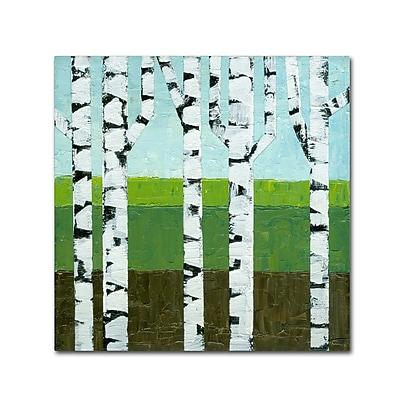 Trademark Fine Art Michelle Calkins 'Seasonal Birches - Summer' 18