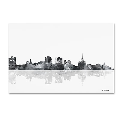 Trademark Fine Art Marlene Watson 'Buffalo New York Skyline BG-1' 12