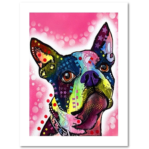 "Trademark Fine Art Dean Russo 'Boston Terrier' 18"" x 24"" Paper Rolled (190836149575)"