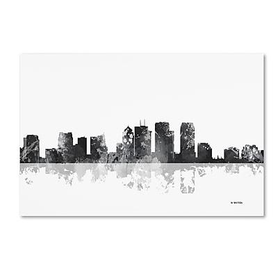 Trademark Fine Art Marlene Watson 'Tampa Florida Skyline BG-1' 12