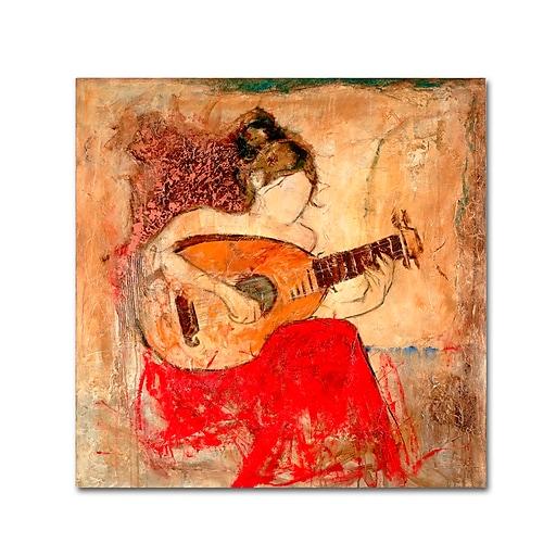 "Trademark Fine Art Joarez 'Vanessa' 14"" x 14"" Canvas Stretched (190836235667)"