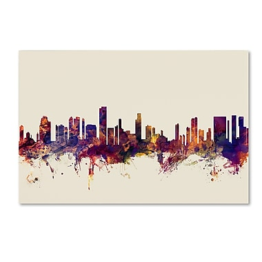 Trademark Fine Art Michael Tompsett 'Honolulu Hawaii Skyline' 12
