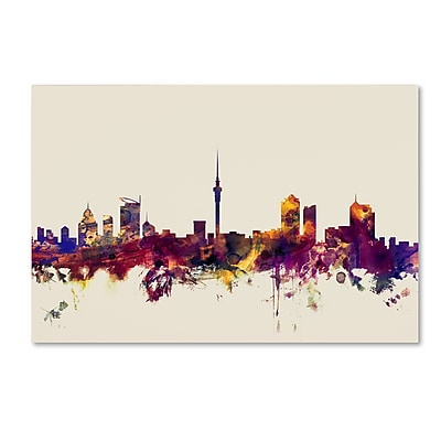 Trademark Fine Art Michael Tompsett 'Auckland New Zealand Skyline' 12