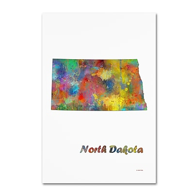 Trademark Fine Art Marlene Watson 'North Carolina State Map-1' 12