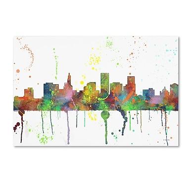 Trademark Fine Art Marlene Watson 'St Paul Minnesota Skyline Mclr-1' 12