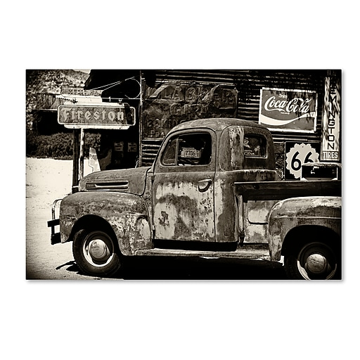 "Trademark Fine Art Philippe Hugonnard 'US Truck' 12"" x 19"" Canvas Stretched (190836047635)"