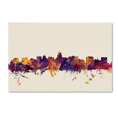 Trademark Fine Art Michael Tompsett 'Madison Wisconsin Skyline' 12